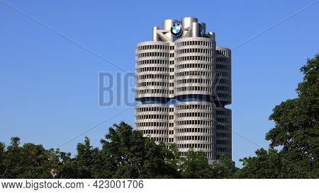 Bmw Headquarter In Munich - City Of Munich, Germany - June 03, 2021