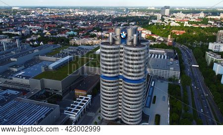 Bmw Headquarter In Munich - Aerial View - Drone Photography