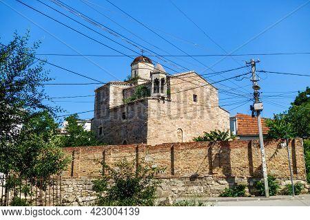 Armenian Temple Of Archangels Michael & Gabriel In Feodosia, Crimea. It Was Built In Xiv Century. Th