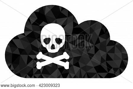 Low-poly Toxic Gas Designed With Chaotic Filled Triangles. Triangle Toxic Gas Polygonal Symbol Illus