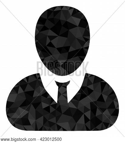 Low-poly User Profile Combined With Randomized Filled Triangles. Triangle User Profile Polygonal Ico