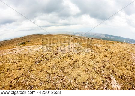 High-mountain Plateau Chatyr-dag. Mountain Range Chatyr-dag In Crimea.