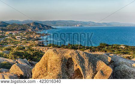 Scenic Aerial View Of Santa Reparata Bay, Near Santa Teresa Gallura, Near The Strait Of Bonifacio, L