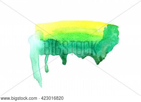 Abstract Watercolor Background Image With A Liquid Splatter Of Aquarelle Paint, Isolated On White. G