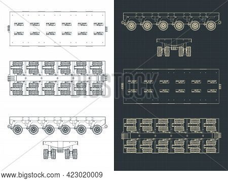 Self Propelled Modular Transporter Drawings