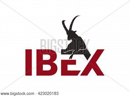 Creative Unique Alpine Ibex Logo Concept, Mountain Goat Logo Vector Illustration
