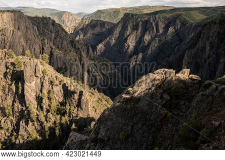 Shadows And Light Compete For Domination In Black Canyon Of The Gunnison