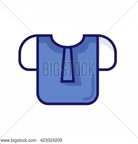 Flat Icon School Outfit Uniform Logo Design Vector Template