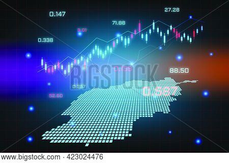 Stock Market Background Or Forex Trading Business Graph Chart For Financial Investment Concept Of Af