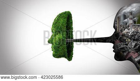 Environmental Fraud Or Green Hypocricy And Environment Political Hypocrite Concept As A Liar Person