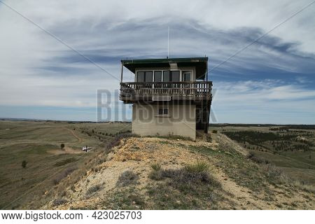 Diamond Butte Fire Lookout On Diamond Butte In Custer National Forest, Montana