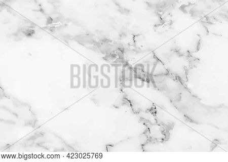White Stone Marble Glossy Smooth With Smoky Grunge Stain Surface Texture Background