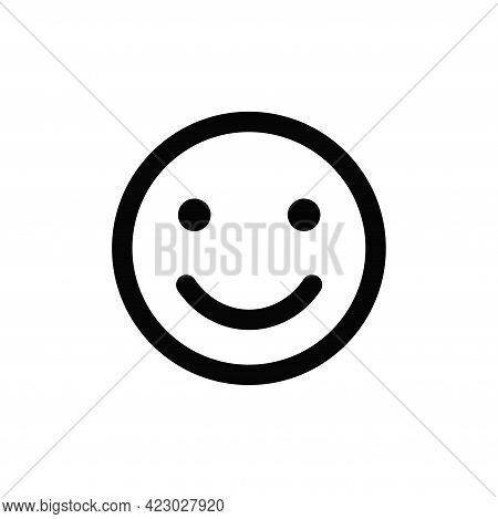Happy Icon Isolated On White Background. Happy Icon In Trendy Design Style For Web Site And Mobile A