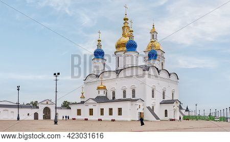 Sophia - Assumption Cathedral In The White-stone Tobolsk Kremlin, Located In Siberia, Russia, Founde