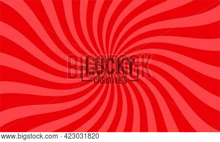 Spinning Background Red, Rays Background Vector Illustration