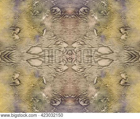 Dirty Colors Abstract Symmetric Vertical Background For Vintage Design. Hand Drawn Watercolor Pictur