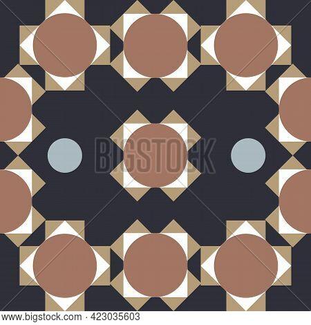 Decorative Tile Pattern Design. Illustration,typical Portuguese Tiles, Ceramic Tiles. Seamless Patte