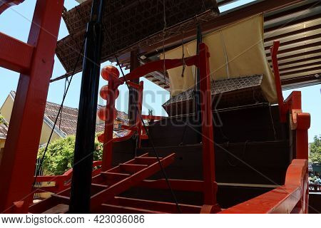 Hoi An, Vietnam, May 23, 2021: Bow Of The Ship Commemorating The Marriage Of Princess Ngoc Hoa To Th