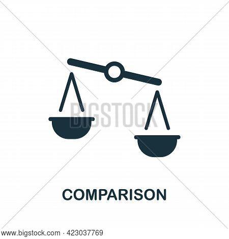 Comparison Icon. Monochrome Simple Element From Digital Service Collection. Creative Comparison Icon