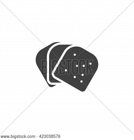 Sliced Bread Vector Icon. Filled Flat Sign For Mobile Concept And Web Design. Toast Bread Glyph Icon