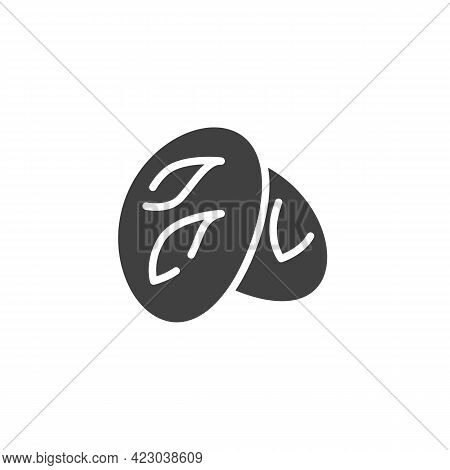 Rustic Bread Vector Icon. Filled Flat Sign For Mobile Concept And Web Design. Sourdough Bread Glyph
