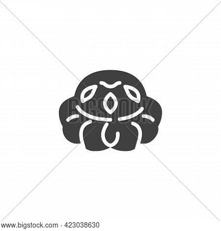 Cottage Loaf Bread Vector Icon. Filled Flat Sign For Mobile Concept And Web Design. British Cottage