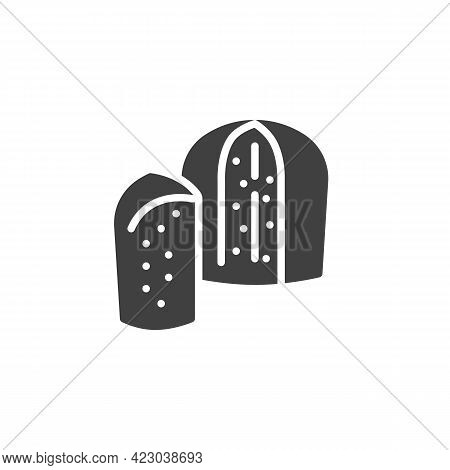 Panettone Bread Vector Icon. Filled Flat Sign For Mobile Concept And Web Design. Sweet Bread Glyph I