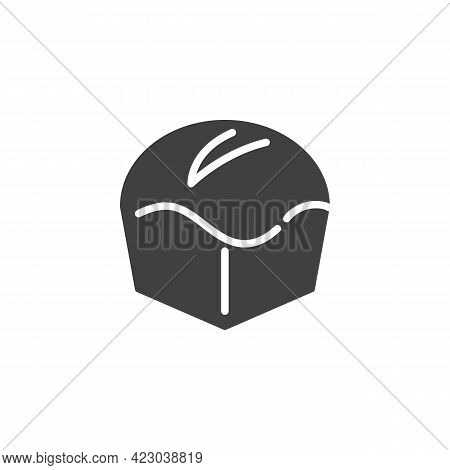 Brioche Loaf Bread Vector Icon. Filled Flat Sign For Mobile Concept And Web Design. Fresh Baked Brea