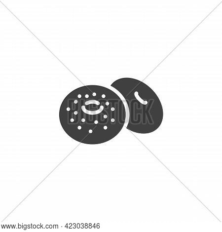 Bagel Bread Vector Icon. Filled Flat Sign For Mobile Concept And Web Design. Ring Shaped Bread Glyph