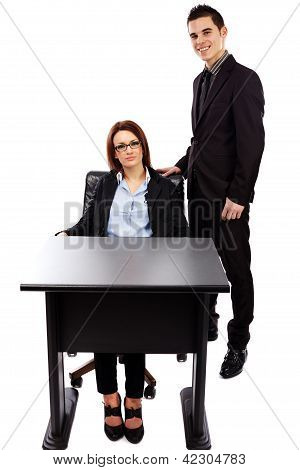Businesswoman And Asistant In Full Length Pose