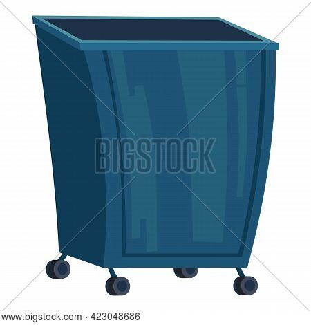 City Garbage Container Icon. Cartoon Of City Garbage Container Vector Icon For Web Design Isolated O
