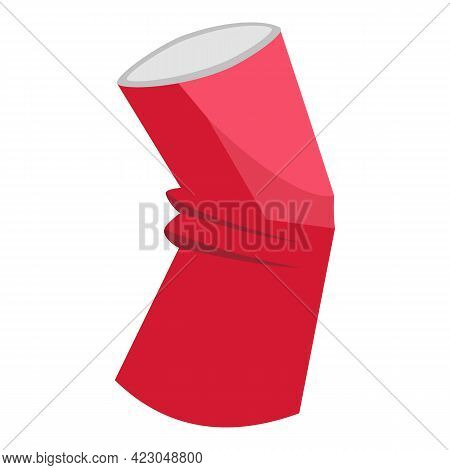 Garbage Soda Tin Can Icon. Cartoon Of Garbage Soda Tin Can Vector Icon For Web Design Isolated On Wh
