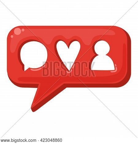 Social Network Chatting Icon. Cartoon Of Social Network Chatting Vector Icon For Web Design Isolated