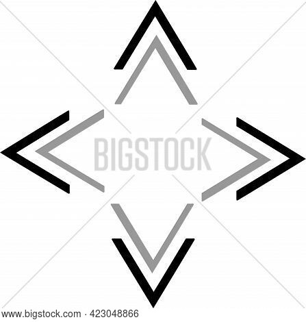 Triangle Arrow Icon On White Background  Theory, Three, Triangle, Up
