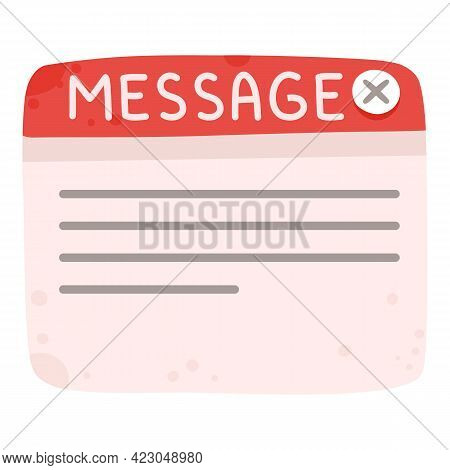 Social Network Email Message Icon. Cartoon Of Social Network Email Message Vector Icon For Web Desig