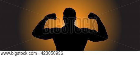 Strong Muscle Vector Illustration.strong Man Vector Illustration