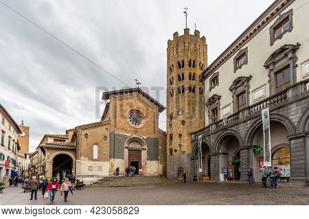 Orvieto, Italy, April 2019: The Church Of Sant Andrea And Bartolomeo In Orvieto, Located Next To The