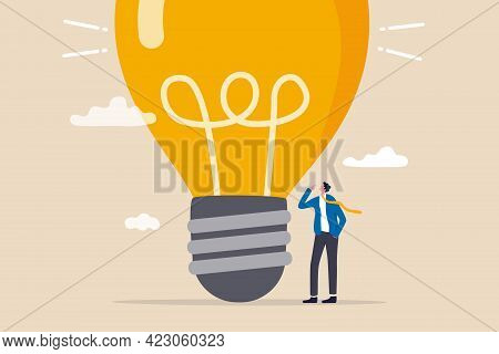 Think Big, Aspiration To Win And Success In Business, Big Idea From Creativity And Imagination To Ov