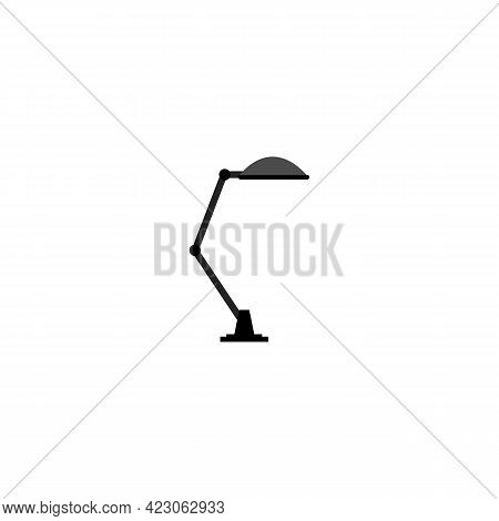 Table Lamp For Reading Book At Night Cartoon Vector. Table Lamp For Reading Book At Night Character.