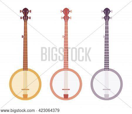 String Banjo Set, Professional Stringed Musical Instrument. Party, Concert Ukelele, Banjolele For St