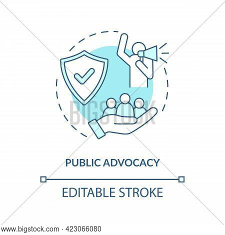 Public Advocacy Concept Icon. Community Change Abstract Idea Thin Line Illustration. Promoting Chang