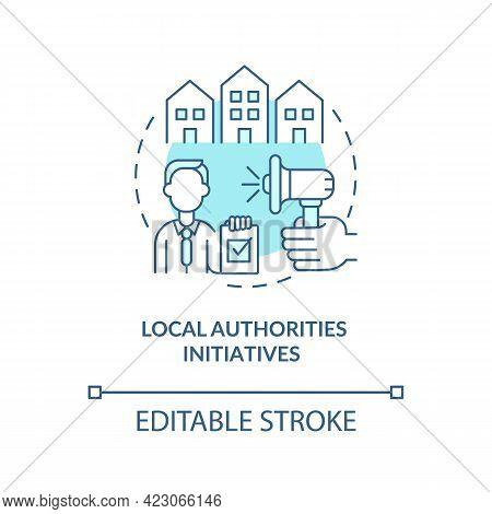 Local Authorities Initiatives Concept Icon. Development Program Abstract Idea Thin Line Illustration
