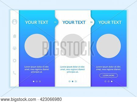 Social Media Onboarding Vector Template. Responsive Mobile Website With Icons. Web Page Walkthrough