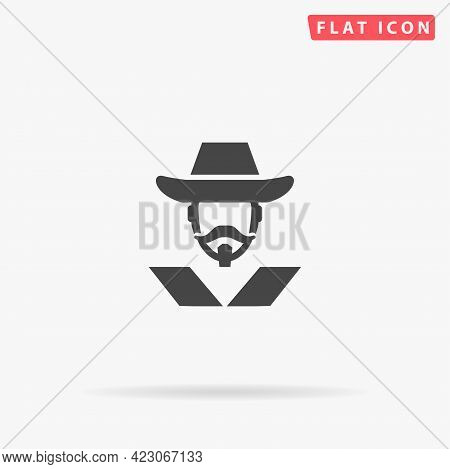 Musketeer Flat Vector Icon. Hand Drawn Style Design Illustrations.