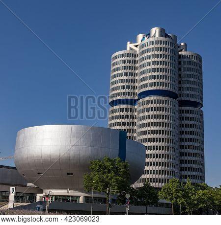 Bmw Headquarter And Bmw Museum In Munich - Munich, Germany - June 03, 2021