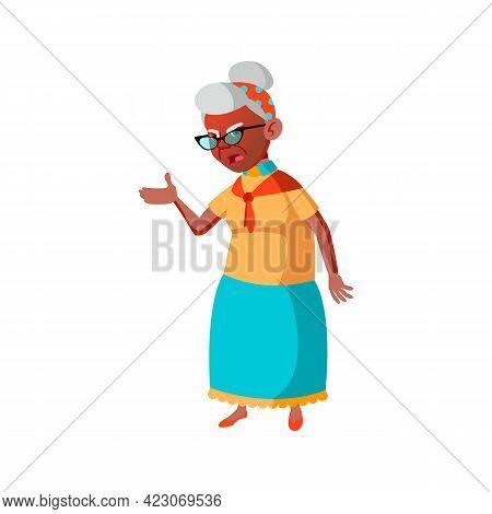 Elderly Hispanic Lady Screaming At Husband At Home Cartoon Vector. Elderly Hispanic Lady Screaming A