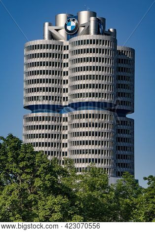 Bmw Headquarter In Munich - Munich, Germany - June 03, 2021