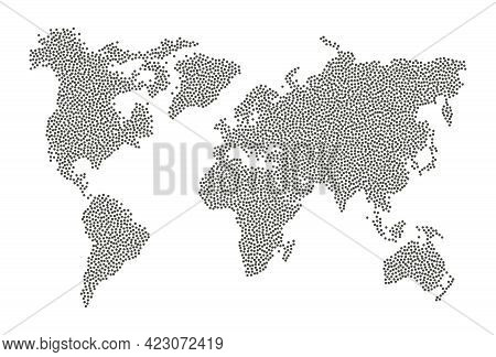 Dotted World Map. Abstract Infographic Isolated Worldmap