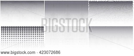 Modern Halftone Background. Vintage Dotted Texture For Anime Or Manga Design. Abstract Comic Popart