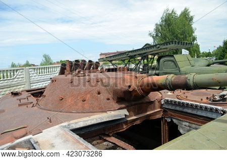 Lost in the civil war.Nazionalist transport (former Soviet) in Ukraine. Museum of battle for Kiev in 1943. June 6, 2021. Novie Petrovtsy.Kiev region. Ukraine